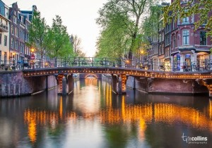 Amsterdam gracht twilight 2